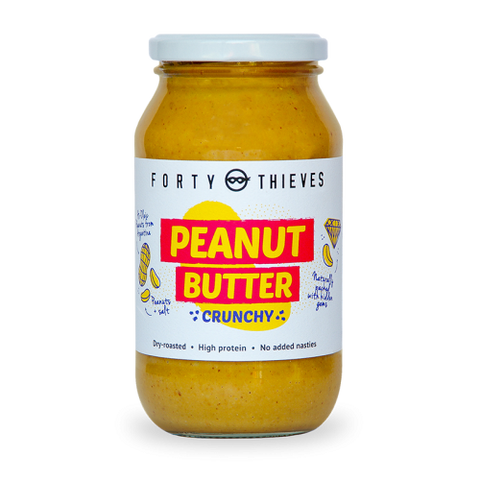 Peanut Butter (Crunchy) Jumbo Jar - Forty Thieves (500 ml)