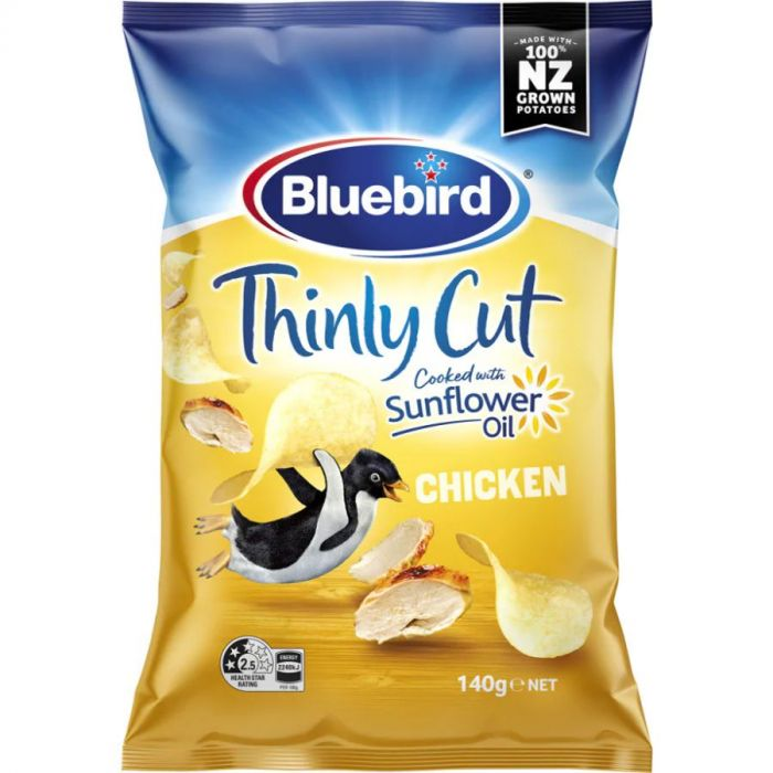 Bluebird Thin Cut Potato Chips Chicken 150g