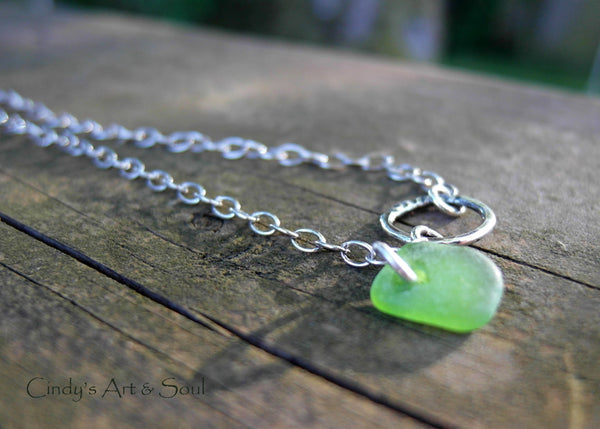 Genuine Sea Glass Anklet Sea Glass Bracelet Custom Made