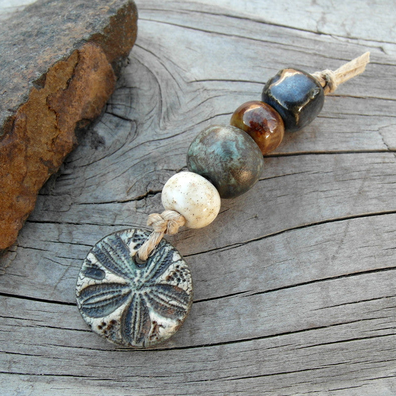 Beads Set 32 Sand Dollar Ceramic Beads Set