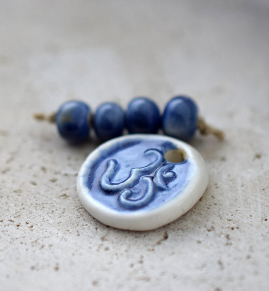 Cobalt Blue Ceramic Beads Set 21716