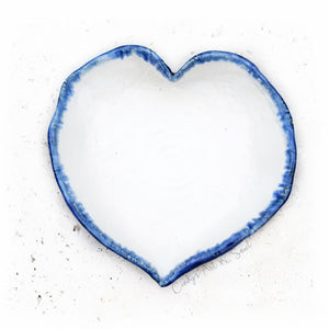 Royal Blue Heart Dish. Ceramic Heart Bowl. Handcrafted Stoneware.