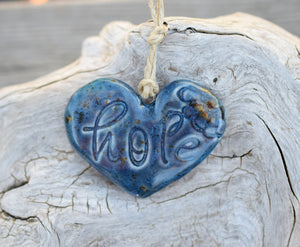 Ceramic Wall Decor . hope . Inspirational Ornaments