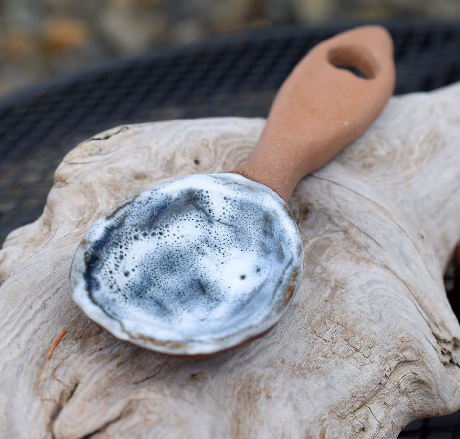 farmhouse. decor. pottery. spoon. rustic. handmade.