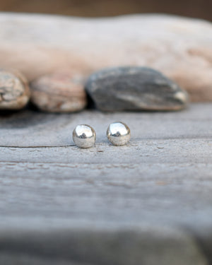 Ball Post Earrings. Solid Fine SIlver Stud Earrings. Cindy's Art & Soul