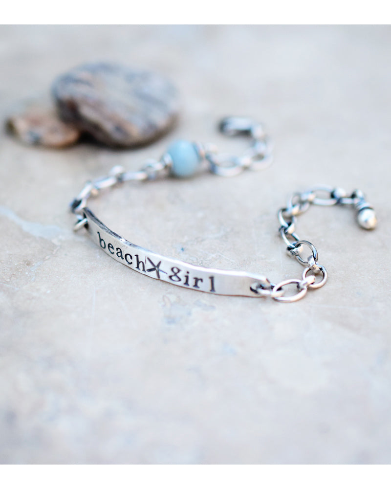 beach girl bracelet. Aquamarine gemstone bracelet. Boho beach wear, designer jewelry.