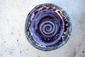 Bohemian Home Decor. Purple Bowl. Handmade Pottery.