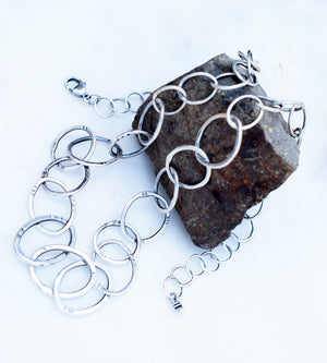 Pure Silver Chain Necklace. Handmade Designer Jewelry. Sterling Silver. Fine Silver.