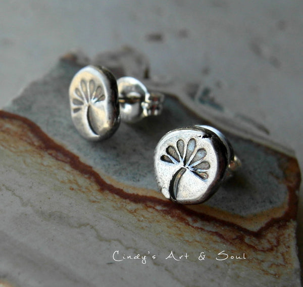 Silver Nugget Post Earrings Wish Silver Stud Earrings