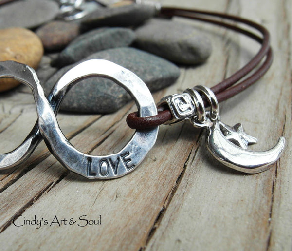 Personalized Bracelet with Infinity Charm