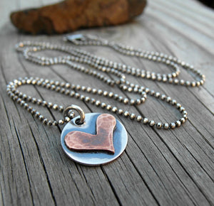 Rustic Heart Charm Add On Charm Only