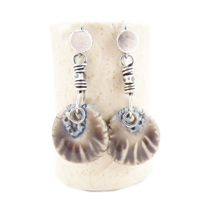 Stormy Gray and Blue 925 Silver Earrings
