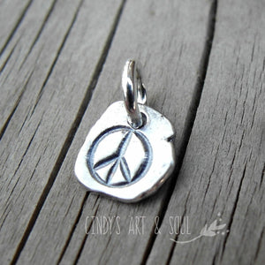Peace Charm 999 Fine Silver Custom Handcrafted