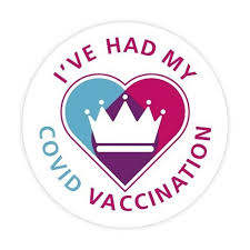 Covid-19 Vaccination Button Badge 55mm