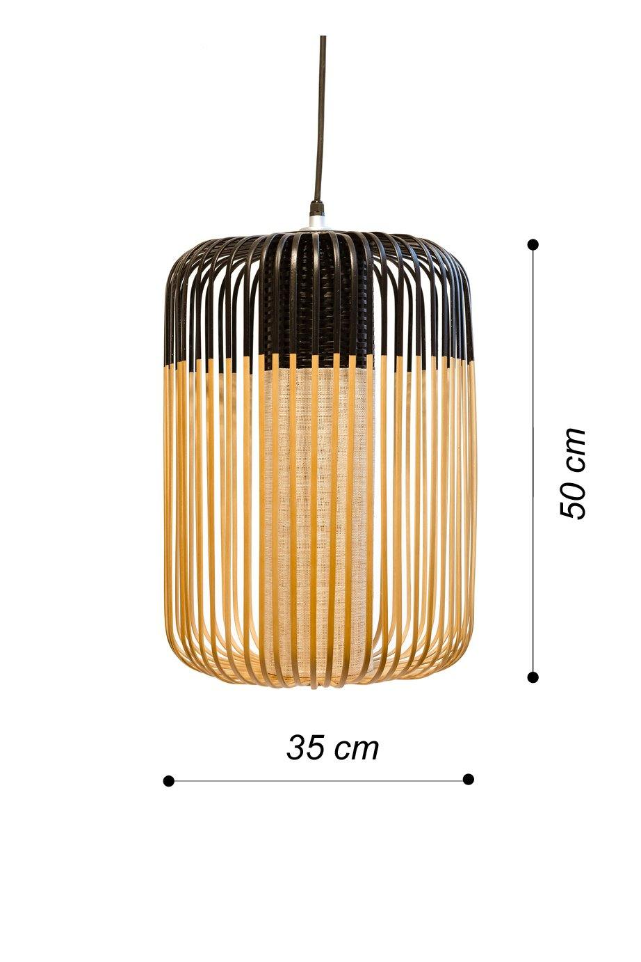 SUSPENSION BAMBOO L NEGRO - CARMAN Showroom