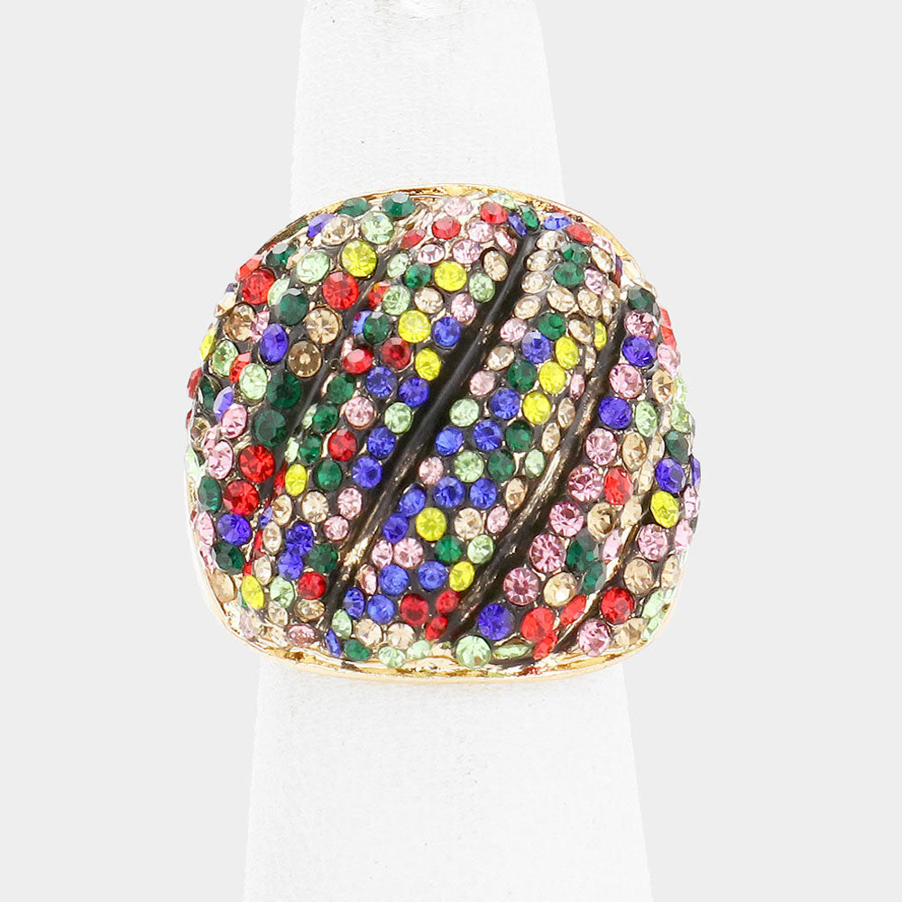 Colorful Rhinestone Ring
