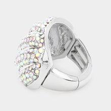 Load image into Gallery viewer, AB Rhinestone Swirl Ring