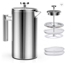 Load image into Gallery viewer, Stainless Steel, Double Wall Coffee Pot