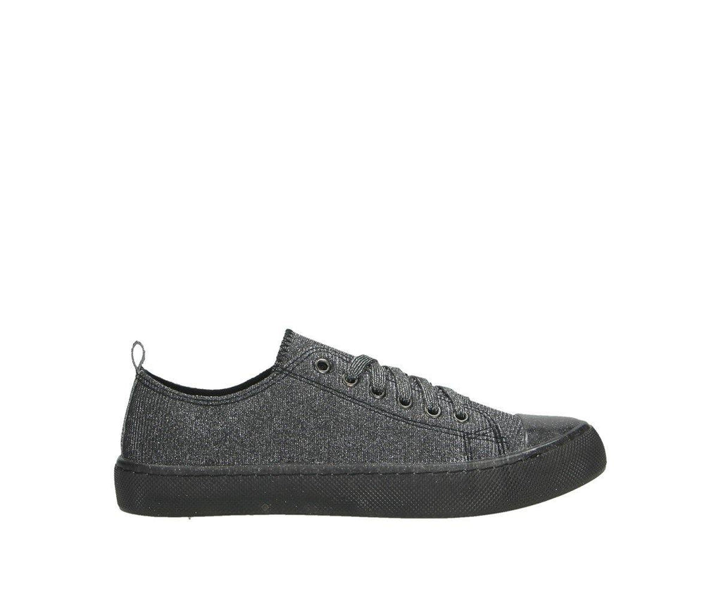 Damen Sneaker low in Metallic Look