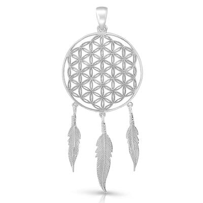 The Flower Of Life Dreamcatchter Pendant