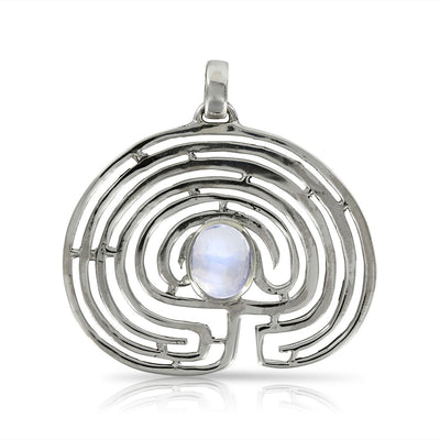Labyrinth with Rainbow Moonstone