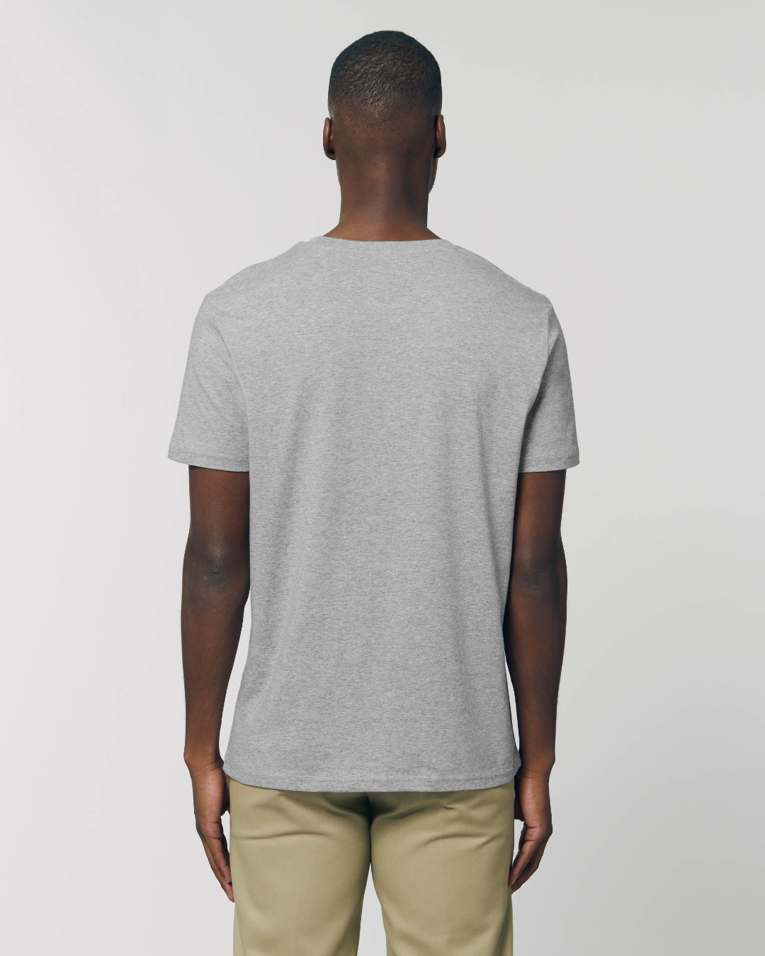 The Green Tee - sustainable, vegan and plastic free t-shirt - colour: heather grey