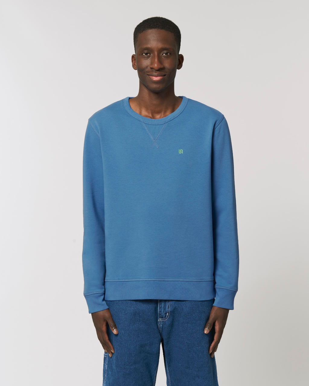 The Old Fashioned, sustainable, vegan and plastic free sweatshirt - colour: blue