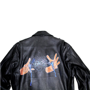Power's In Your Hands- Vintage Leather Jacket - Foodi