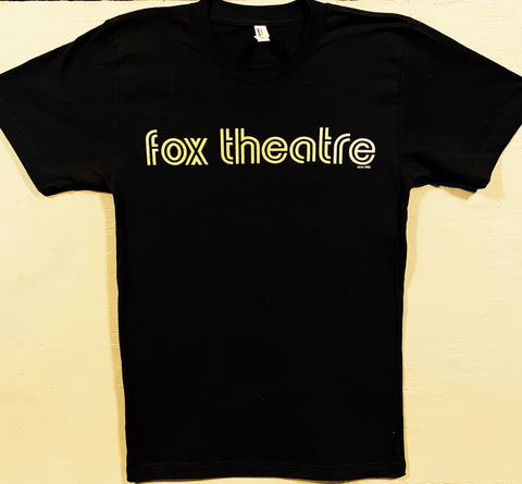 Black Fox Theatre Circa 1982 T-Shirt - Gold Lettering