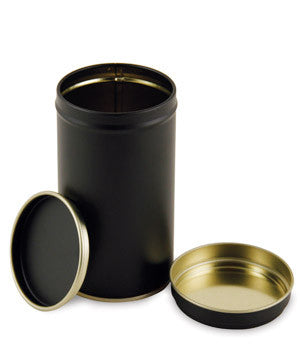 Black Finish Tea Tin