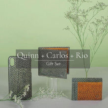 Load image into Gallery viewer, Quinn iPhone Case + Carlos Bi-fold Wallet + Rio Card Wallet