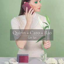 Load image into Gallery viewer, Quinn iPhone Case + Caro Wristlet + Rio Card Case
