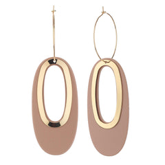 Oval Shape Hoop Designer Earrings