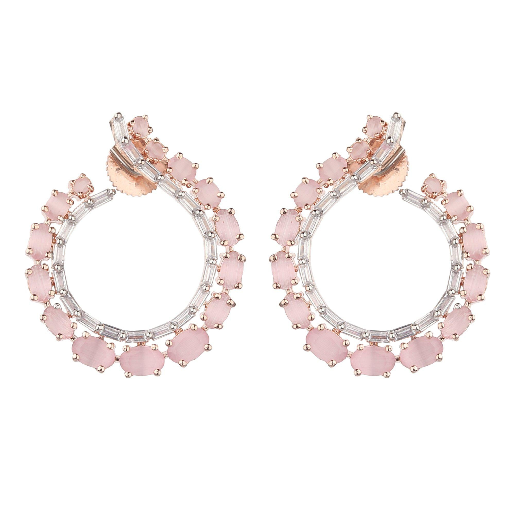 Circle Shape Studded Earrings-Earrings-ONESKYSHOP
