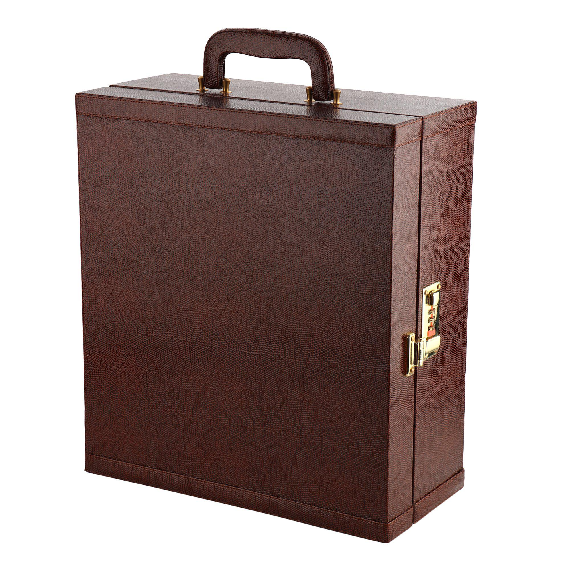 Portable Bar Set (Brown Leather)