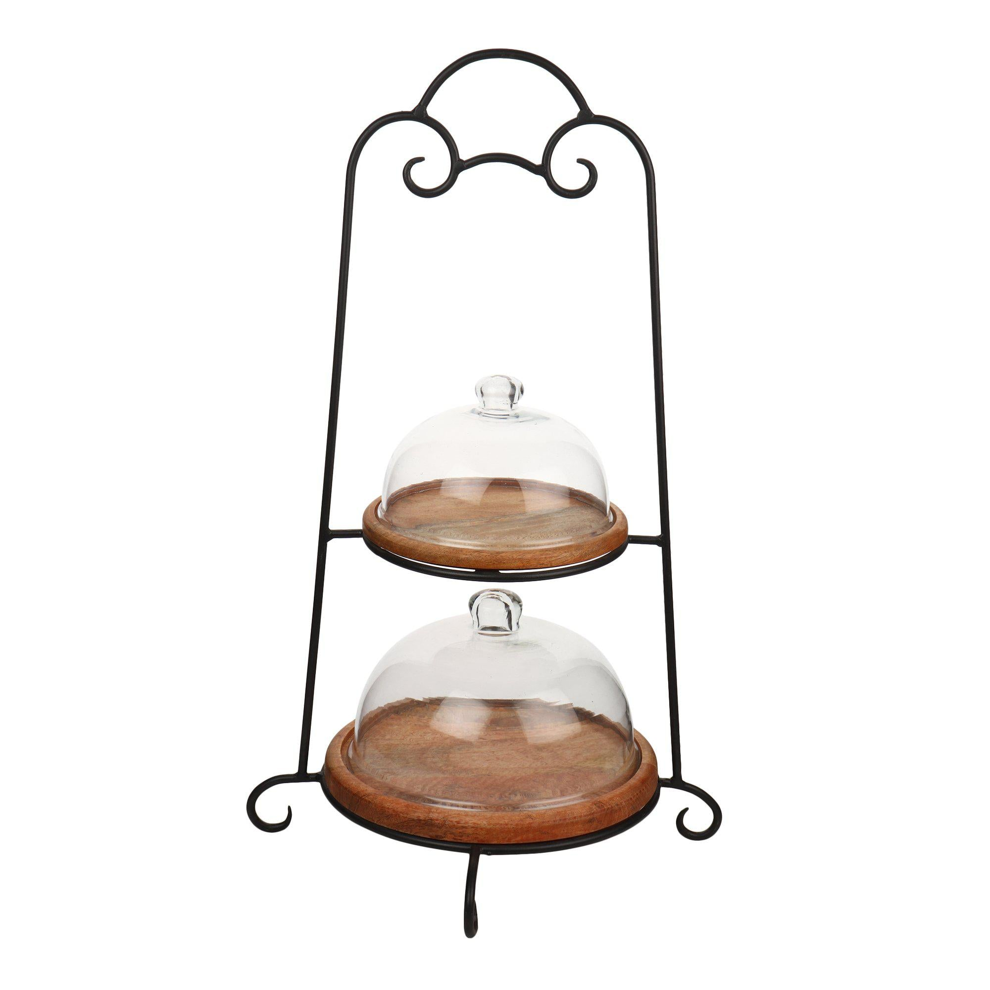 Sheesham Wood 2 Tier Cake Stand