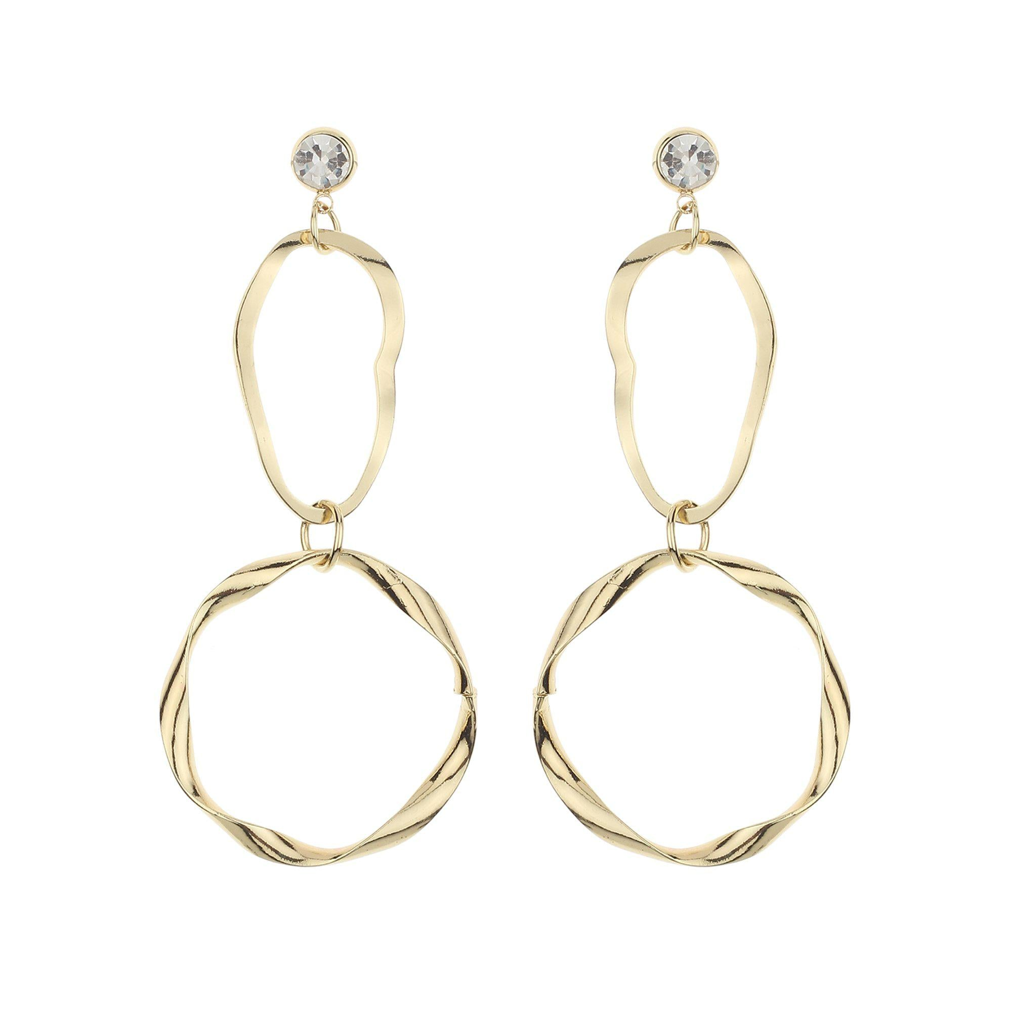 Korean Golden Hoop Earrings