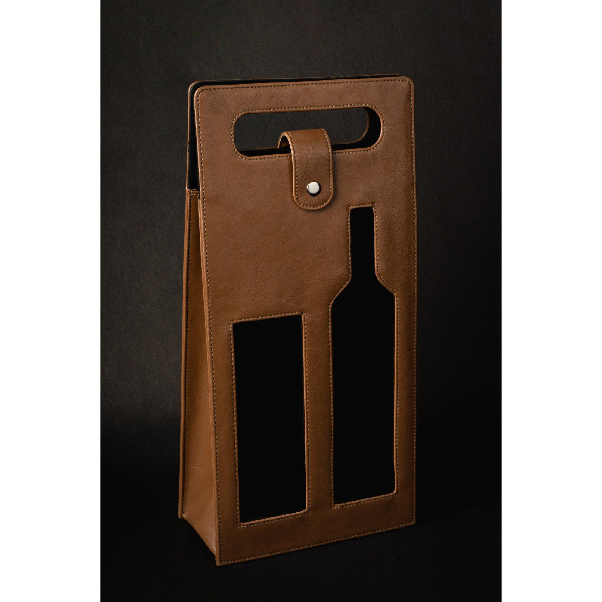Double Bottle Wine Holder-Bar Accessories Travel Set-ONESKYSHOP