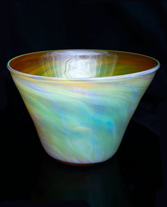 Silver Yellow Bowl