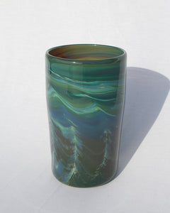 Copper Green Cylinder Vase