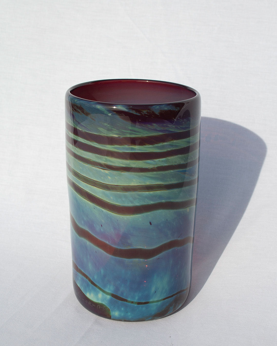 Copper Red Cylinder Vase