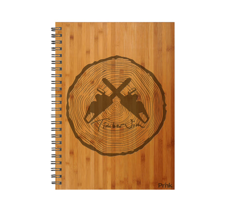 Timber Jim Logo Real Wood Journal