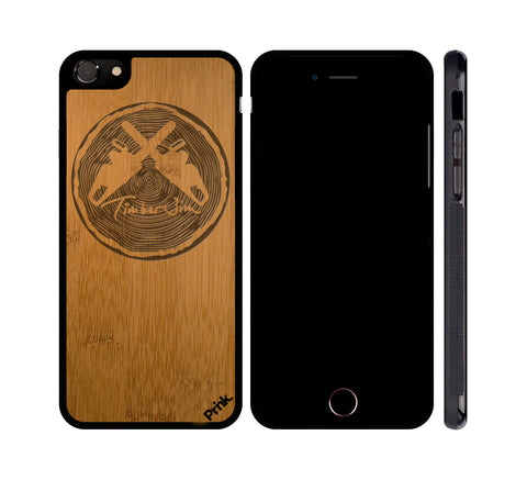 Jim Logo Real Wood Phone Case