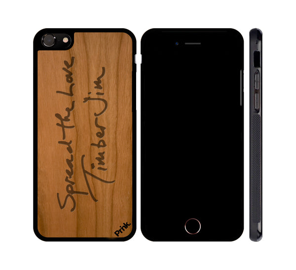 Spread the Love Signature Real Wood Phone Case