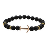 Black Lava Stone Anchor Bracelet