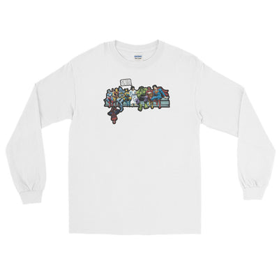 Jesus with Superheroes Long Sleeve Tee