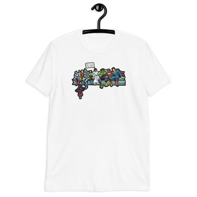 Jesus with Superheroes Tee