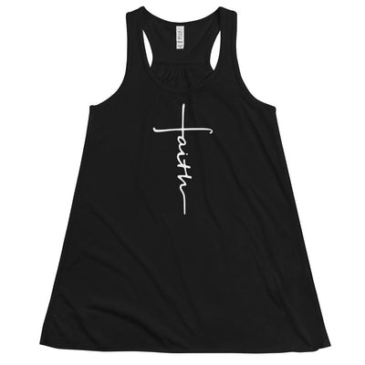 Faith Cross Flowy Racerback Tank