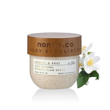 Miracle Glow Body Scrub 200mL, Natural Jasmine & Rose - nontre