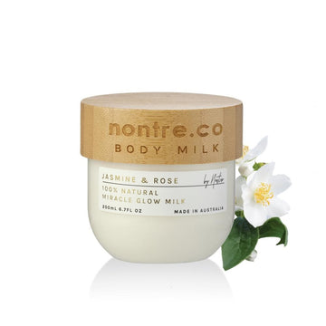 Miracle Glow Face & Body Milk 200mL, Natural Jasmine & Rose - nontre